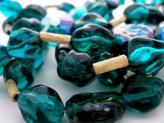 Signed Trifari Emerald Green Glass Bead Multi Strand Christmas Vintage Necklace   eBay