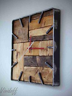 / vividoff - - Wall clock / vividoff – – Handmade Clock -Wall Clock / vividoff - - Wall clock / vividoff – – Handmade Clock - vividoff / Hodiny nástenné industry -OSB vividoff / Hodiny nástenné Huge Hammered Copper She