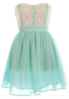 Beautiful short, lace, light blue dress. (btw i love this dress!)