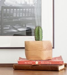 Faceted Wood Planter by Few Bits