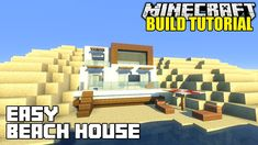 Minecraft: How To Build A Beach House Tutorial (Simple & Easy Small Mine...