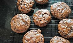 6-Ingredient, Outrageous Flourless Chocolate Brownie Cookies.
