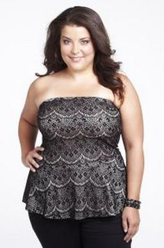5da4ac7d6e3 mxm lace peplum plus size tube top