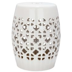Enjoy sitting quietly among your favorite blooms whenever you like with this ceramic garden stool. Place this stool alongside a garden path and enjoy the sturdy durability that ensures this piece will hold up well to whatever nature throws at it.