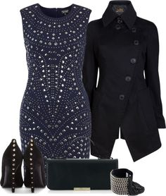 Minus the stones up the back of the heels, I want a reason to wear this.  Love the jacket too!