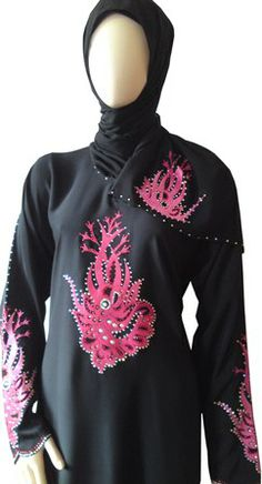 Abaya stone work designs look gorgeous to wear. Stone work abayas can also be bought from online store like islamicmodestwear. I personally love the collection of their abaya with stone work.