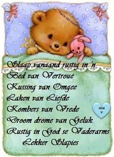 Lekker slaap Good Night Messages, Good Night Quotes, Night Pictures, Funny Pictures, Evening Greetings, Afrikaanse Quotes, Night Prayer, Goeie Nag, Sleep Tight