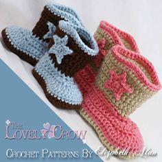 Boots Crochet Pattern Cowboy