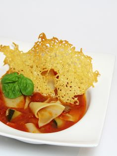 This Lasagna Soup is truly like lasagna in a bowl. The flavors are lovely. And the crispy cheese cracker is YUM! :D