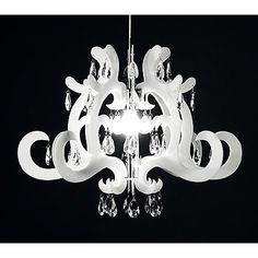 Lampadario Elegance Intagliato in Pvc colore Bianco