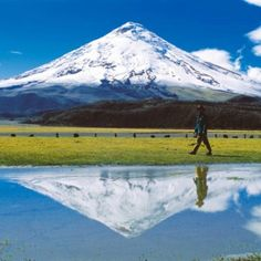 The highest active volcano: Cotopaxi, Ecuador