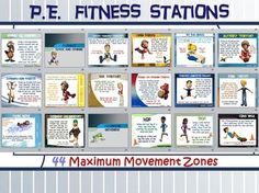 """""""TIME TO BRING IT""""!!! The following 44 stations (and corresponding Station Cards) have been created as an aid for a PE Teacher, Classroom Teacher or Small Group Leader in a camp or church."""