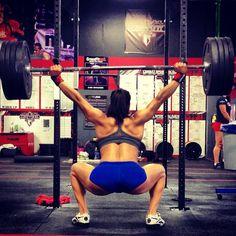 Jackie Perez Overhead squats!