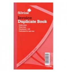 "Buy the new ""Silvine Duplicate Book Invoice 8.25x5 611 Pk6"" online today. Now in stock."