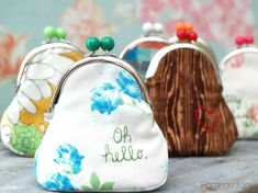 Cute and Simple DIY Coin Purses - with fun embroidery notes!