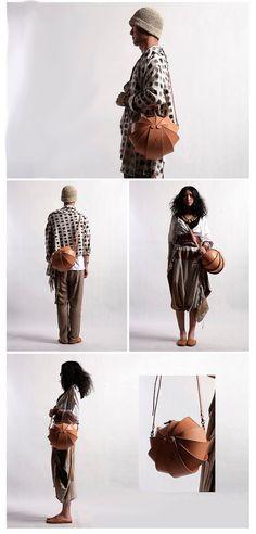 Nude Leather Cross Body Bag-Large Round Shoulder bag for women- Original Stylish…