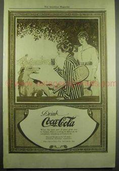 Desde la decada de los 10 este aviso de publicidad Coca-Cola