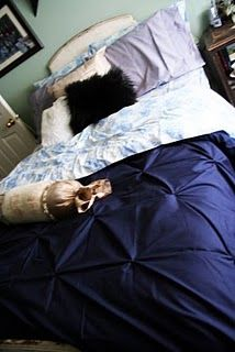 pin-tuck duvet diy - may need to have my mom make this for me since I cannot find a purple pintuck duvet cover ANYWHERE