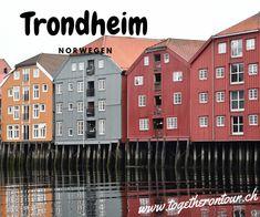 Hier steht das älteste weltliche Gebäude in Skandinavien, das Nidarosdom. Die Kathedrale ist sehr gut erhalten und besticht mit seiner neugotischen Architektur. Im Gegensatz zur überlaufenen und musealen Altstadt Bergens, ist jene von Trondheim noch immer bewohnt und lockte die Touristen mit hübschen Holzhäusern und Kaffees. Bunte Lagerhäuser prägen das Stadtbild Die sympathische Altstadt mit ihren charakteristischen Speicherhäusern ist von hier nur einen Katzensprung entfernt. Bergen, Trondheim, Multi Story Building, Log Home, Norway, Old Town, Architecture, Mountains