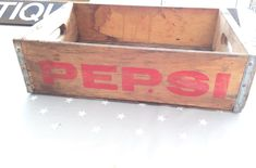 A personal favourite from my Etsy shop https://www.etsy.com/uk/listing/499189422/vintage-wooden-pepsi-crate-great-for