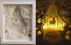 Simply Creative: Papercut Light Boxes by Hari & Deepti
