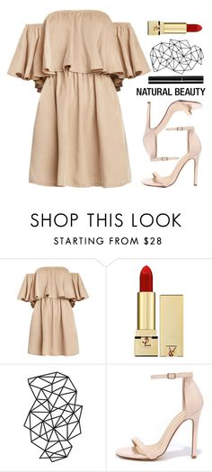 """""""Lady In Beige"""" by spellrox ❤ liked on Polyvore featuring Yves Saint Laurent, Liliana and Chanel"""