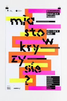 Katowice Street Art Festival poster and visual identity, 2015