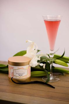 PINK CHAMPAGNE VANILLA BODY BUTTER!  Our deliciously whipped Body Butter will make your skin feel amazingly renewed and hydrated! Our brand new forward thinking recipe Made with organic butters and oils will fast become your favorite go-to moisturizer!  www.SoapyBliss.com