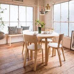 La silla 66 es una de las sillas de comedor favoritos de Alvar Aalto. Como muchas otras piezas de mobiliario, también esta silla diseñada en 1935 es parte de la colección permanente del MoMA. #FelizFinde #Silla66 #AlvarAalto #NativaInteriorismo #MueblesDeDiseño  #Mexico #CDMX #RomaSur #LaRoma #TiendaDeMuebles #Muebles #Furniture #Diseño #Design #Decoracion #Decoration #Arte #Art #Interior #Interiores #Casa #HomeDecor #Silla #Chair #Estilo #Calidad #Ideas #Comfort #Designer #Diseñador…