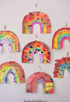 use colored collage material to make a rainbow out of cardboard . use colored collage material to make a rainbow out of cardboard . Rainbow Paper Plate Craft Ideas and Activities for Kids Crafts For Kids To Make, Projects For Kids, Kids Crafts, Arts And Crafts, Art Projects, Crafts Cheap, Baby Crafts, Kids Diy, Art Lessons For Kids