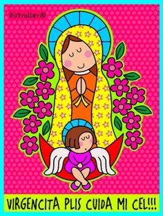 Imagenes Para MI Computadora Gratis | ... Descargar Virgencita plis cuida mi cel para celular [animacion GIF Catholic Beliefs, Images Of Mary, Saint Nicholas, Paint Party, Drawing For Kids, Decoupage, Diy And Crafts, Artsy, Clip Art