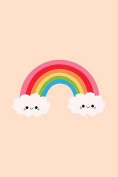 Rainbow & Clouds Kawaii