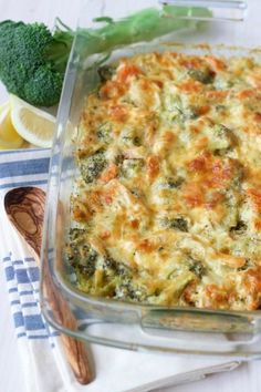 (Ad) This Healthy Chicken Broccoli Casserole is a delicious comforting classic. Its so easy to make packed with protein loaded with broccoli and full of vibrant herby aromatics. It has a special real food secret ingredient too and bakes up beautifully Healthy Casserole Recipes, Healthy Dinner Recipes, Real Food Recipes, Cooking Recipes, Chicken Broccoli Casserole Healthy, Free Recipes, Dog Recipes, Healthy Rotisserie Chicken Recipes, Gluten Free Chicken Casserole