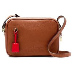 Women's J.crew 'signet' Leather Crossbody Bag (7.670 RUB) ❤ liked on Polyvore featuring bags, handbags, shoulder bags, roasted chestnut, brown leather crossbody, brown crossbody purse, brown leather handbags, leather crossbody and brown crossbody