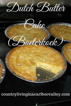 Like almonds? Like butter? Then you will love this Dutch Butter Cake Recipe!