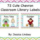 72 Chevron Classroom Library Labels