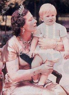 Princess Eugenie of Greece with her son