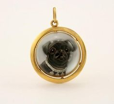 An Antique Essex Crystal Pendant of a Pug, sold for $1,895.00