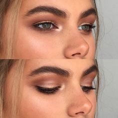 We love this warm-toned smokey eye look that is enhanced by the beautiful highlighting and bold brows!