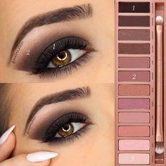 Maquillage fait à partir de la naked 3