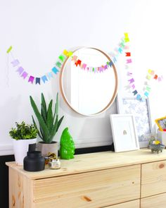 Lucky Rainbow Banner DIY - celebrate St. Patrick's Day in style with this great kids' activity with grown-up style!