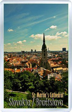 $3.29 - Acrylic Fridge Magnet: Slovakia. Bratislava. St. Martin's Cathedral