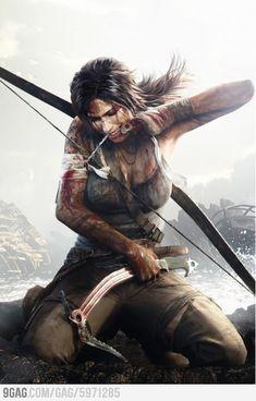 "Tomb Raider ""Lara Croft"" Drawing"