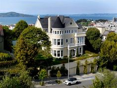 Described as one of San Francisco's largest private residential parcels, the gigantic 1894 built sq. ft Queen Anne style mansion sitting on a lot totaling sq. ft in San Francisco's premier Pacific Heights neighborhood, is now being offer Old Mansions, Mansions For Sale, San Francisco Neighborhoods, Pacific Heights, Second Empire, High Walls, International Real Estate, Expensive Houses, House And Home Magazine