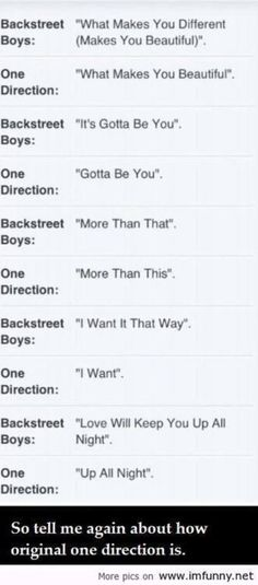 I hate Boy Bands! They have Shallow & Recycled lyrics!