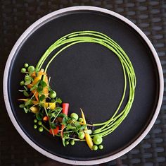 Peas & carrots: baby heirloom carrots pea hummus california morels micro chinese cedar by @karloevaristo  Tag your best plating pictures with #armyofchefs to get featured.  #peas #carrots #heirloom #hummus #morels #möhren #erbsen #plating #chefs