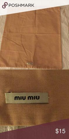 """Miu Miu Dust Cover Miu Miu Dust Cover, small 13"""" by 15"""" Miu Miu Accessories"""