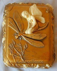 Art Nouveau trinket box featuring a fairy riding a dragonfly Dragonfly Jewelry, Dragonfly Art, Belle Epoque, Art Nouveau Jewelry, Trinket Boxes, Faeries, Vintage Antiques, At Least, Arts And Crafts
