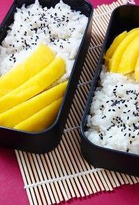 Kokosreis mit Mango (Thai Sticky Rice)