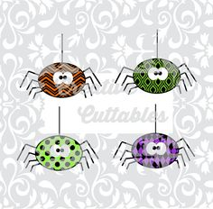 Halloween SVG Spider Design for  Silhouette or other craft cutters (.svg/.dxf/.eps)